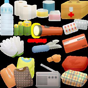 防災用品のイラスト